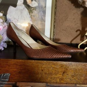 """NINE WEST LEATHER """"CHAPPELL"""" PUMPS"""